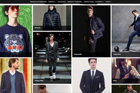 Site web, présentation vêtements pour hommes - Transfert Man