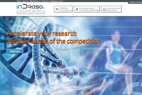 """Création site internet """"In Droso"""" - Inspire webdesigner indépendant."""