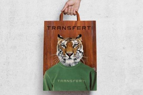 Conception visuel de sacs pour les boutiques Transfert Man
